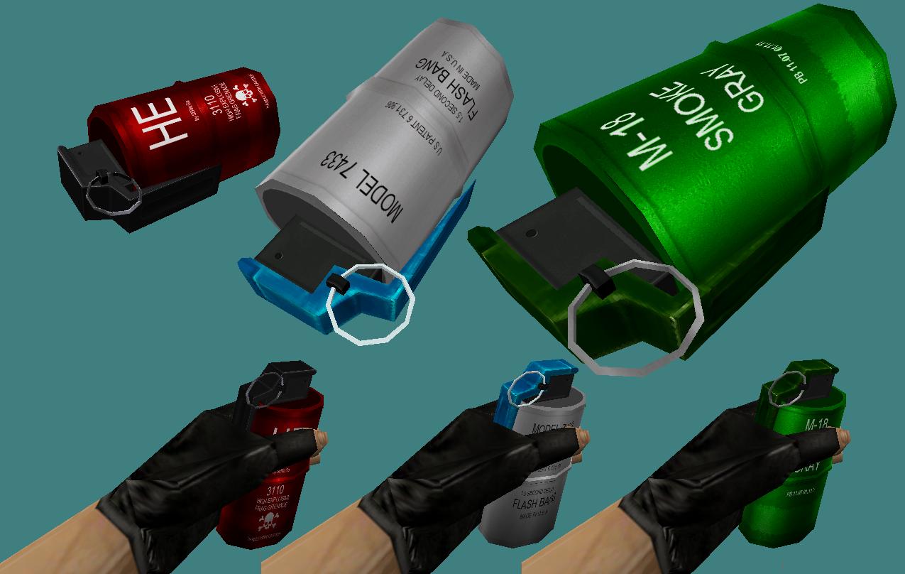 Красивые модели гранат «yxo» для кс 1. 6 » новые модели оружия для.